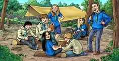Doodle: Scouts compass