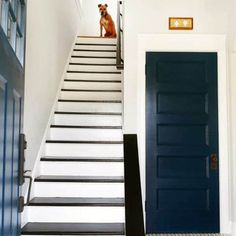 Tiled Staircase, Painted Staircases, House Staircase, Staircase Remodel, Painted Stairs, Wooden Stairs, Staircase Design, Stair Design, Staircase Ideas