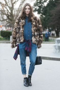 Take a note from the coolest street style at Paris Fashion Week
