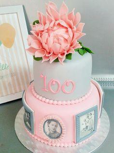 TARTA FONDANT FOTOS, DALIA, 100 CUMPLEAÑOS FONDANT CAKE, DALIA, PHOTO, CENTURY YEARS