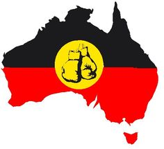 Aussie Flag Koori Colours $15