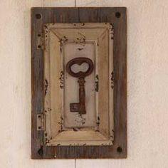 Boite à clés déco brocante -Décoration brocante - Boite clés style ancienne maison
