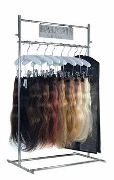 Crowncouture hair extension boutique retail pinterest hair fashion products retail store counter top metal wire hair brush and hair extension display stands pmusecretfo Images
