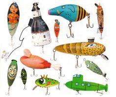 funny fishing lures - Google Search