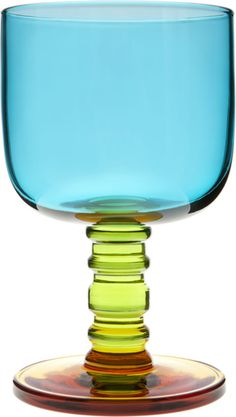 Marimekko Sukat Makkaralla Turquoise Goblet  | Crate and Barrel