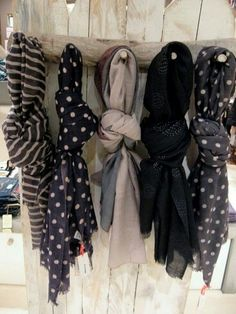 Have a selection of scarves?? Use our hangers to make your scarves neat and tidy in your cupboard. Visit: www.hanger-management.co.uk