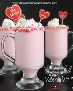 Strawberry Milk for Valentine's | Chocolate, Chocolate and more...