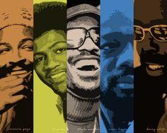 Marvin Gaye  Al Green  Stevie Wonder  Isaac Hayes  Barry White