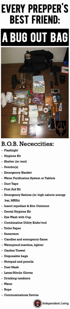 Make sure your Bug-Out Bag includes these essential items #bugout #survival #prepping | www.IndependentLivingNews.com