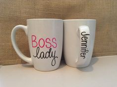 Check out this item in my Etsy shop https://www.etsy.com/listing/220659890/personalized-boss-lady-large-16oz-coffee