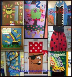 Súper colección con más de 100 puertas para nuestras clases y salones. Ideas para toda ocasión