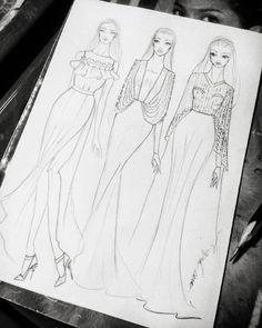Dress Design Drawing, Dress Design Sketches, Fashion Design Sketchbook, Fashion Design Drawings, Fashion Sketches, Fashion Illustration Poses, Fashion Illustration Tutorial, Wedding Dress Illustrations, Fashion Figures