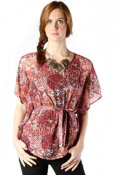 Stings Blouse Red Orange Shirt Rp 279.000 discount 20% jadi Rp 223.920.Only on www.bodytalk.co.id to shop! Grab It Fast! #ladies #women #fashion #bodytalk