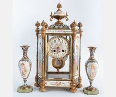 sevres_garniture Porcelain Ceramics, Clock, Home Decor, Porcelain, Watch, Homemade Home Decor, Clocks, Decoration Home, The Hours