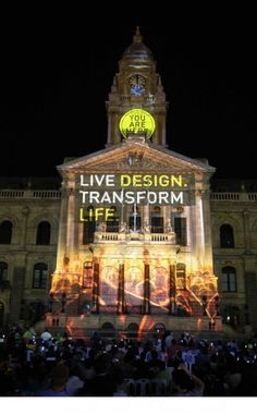 2014 kicked off by transforming the Cape Town City Hall into a backdrop for celebration. Cape Town, Big Ben, South Africa, Exploring, Beautiful Homes, Celebration, Places To Visit, Castle, Corner