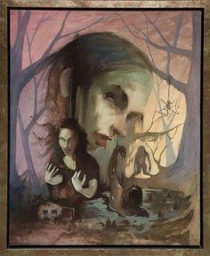 """Minerva - The vengeful Witch Oil 30 x 24"