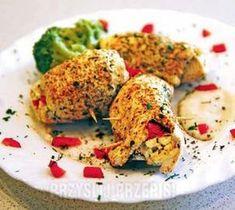 Dietetyczne roladki z kurczaka na parze Good Food, Yummy Food, Cooking Recipes, Healthy Recipes, Poultry, Cauliflower, Bacon, Food And Drink, Healthy Eating