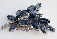 DeLizza & Elster Juliana Blue Rhinestone Floral by PinkAstilbe, $60.00