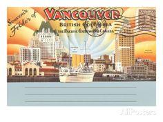 Postcard Folder, Vancouver, British Columbia Poster at AllPosters.com