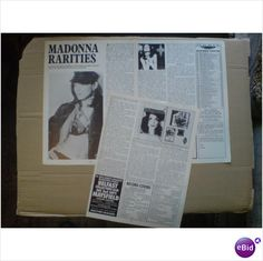 Madonna. Madonna Rarities page 3 feature Record Collector magazine