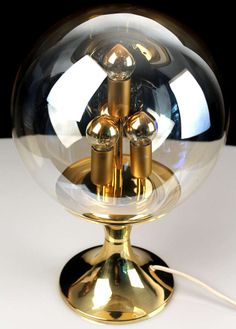 Peil Putzler Bubble Glass Table Lamp Gold | From a unique collection of antique and modern table lamps at http://www.1stdibs.com/furniture/lighting/table-lamps/