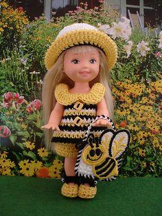 Kelly Doll Handmade Crocheted Clothes Bumble Bee | eBay
