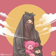Muslim Girls, Muslim Couples, Girl Cartoon, Cartoon Art, Hijab Drawing, Islamic Cartoon, Anime Muslim, Hijab Cartoon, Girl Hijab