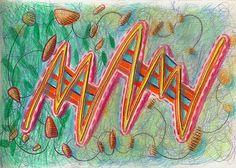 """mam"", drawing on paper, 21 x 15 cm, ©matthias hennig 2013 #drawing #artwork #matthias #hennig #color www.matthiashennig.de"