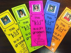 Do you give your students a book as an end-of-year gift? A lot of teachers do - it's a great gift! If you have some extra school pictures of your students around (especially those sticker ones), her