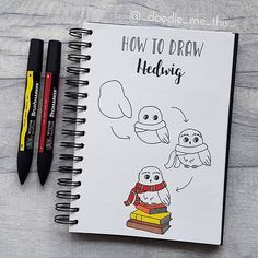 Comment your favorite doodles 💕 Easy Doodles Drawings, Easy Doodle Art, Simple Doodles, Harry Potter Journal, Harry Potter Drawings Easy, Harry Potter Fan Art, Desenhos Harry Potter, Bullet Journal Art, Step By Step Drawing
