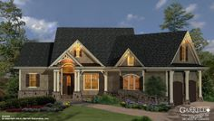Mill Spring Cottage House Plan | House Plans by Garrell Associates, Inc