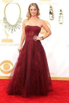 Kaley Cuoco looked fab at the Emmy's last night. Here are some DaisyGem jewels we would pair her stunning gown with! #fashion #statement #jewelry #love #style