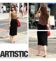 Leopard Print Top Maxi Dress