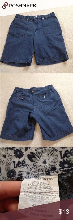 Jean shorts! These are a great closet staple! They look great with everything! They have no holes or stains. They come from a smoke free but pet friendly environment. I don't hold or trade. I don't negotiate the price in the comments. I only sell through poshmark. Lee Shorts Jean Shorts