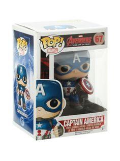Funko Marvel Avengers: Age Of Ultron Pop! Captain America Vinyl Bobble-Head