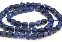 Natural lapis lazuli beads in an unusual shape. For makers of jewellery. Good value at £3.99 per strand.