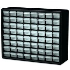 $37.92 Walmart   Rugged, high-impact polystyrene frame  Drawer dividers molded into back of cabinet  64 virtually unbreakable drawers  Dimensions: 2-1/8 in. x 1-1/2 in. x 5-1/4 in.  Perfect for crafts, beads, hardware, fishing, and more