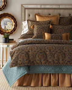 Dian Austin Couture Home Beauville Bedding Bed Decor, Girl Bedroom Decor, Bedroom Decor, Bedroom Bliss, Bed, Luxury Bedding, Remodel Bedroom, Home Decor, Luxurious Bedrooms