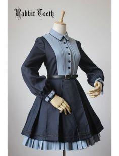 Navy Blue Vestidos Vintage, Vintage Dresses, Old Fashion Dresses, Fashion Outfits, Fashion Fashion, Mode Lolita, Lolita Style, Kawaii Clothes, One Piece Dress