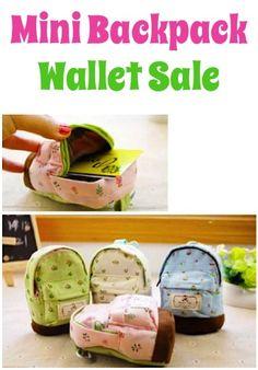 Mini Backpack Wallet Sale