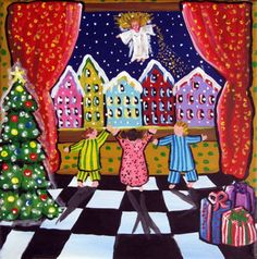 The Christmas Angel Holiday Whimsical Folk par reniebritenbucher