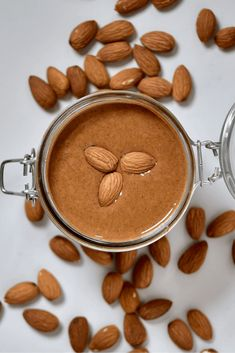 It takes just 15-20 minutes, and ONE ingredient to make this smooth, creamy homemade almond butter - refined sugar0free, hydrogenated oil-free, cheaper, and tastier than store-bought! Homemade Almond Butter, Raw Almond Butter, Make Almond Milk, Vegan Peanut Butter, Blender Food Processor, Food Processor Recipes, Pistachio Milk, Beet Salad Recipes, Speed Foods