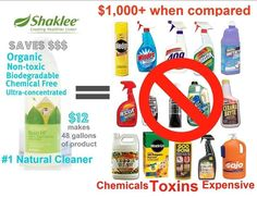 Shaklee Get Clean Kit cost comparison  go green with Shaklee for earth day - nontoxic cleaners www.gatheredinthekitchen.com