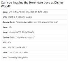 Herondale boys at Disney... Oh the laughs