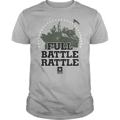 Army Full Battle Rattle T Shirts for guys  #Army #BattleRattle