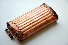 Antique French copper foot warmer antique hand door LaCroixRosion