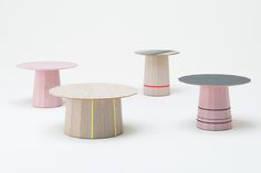 Coloured tables by Scholten & Baijings