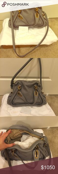 Authentic Chloe Paraty Medium Tote Authentic Chloe bag. Wear it 2x times out and it's still in a good condition. I would say 85% new still. Color: Cashmere Grey. Come with dust bag. Chloe Bags Totes