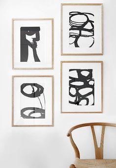 Abstract black and white art | Urban home | home | minimalist decor | home decor | decor | livingroom | room | spaces | Scandinavian | interior design | Schomp MINI
