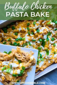 This healthy buffalo chicken pasta bake is the BEST. It's so delicious, more  nutritious, and your new favorite easy dinner recipe! Cheesy Pasta Bake, Chicken Pasta Bake, Macro Friendly Recipes, Macro Recipes, Buffalo Chicken Pasta, Macro Meals, Chicken Recipes, Chicken Meals, Oven Recipes